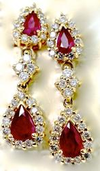 Stunning Pair of Ruby & Diamond Earrings