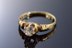 Victorian Diamond Ring in 14kt Gold