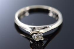 Fancy 18kt Gold Solitaire Diamond Ring