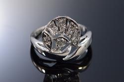 Art Deco Style 14kt Gold Diamond Ring