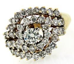 Multi Diamond Cluster Ring