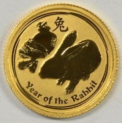 Superb Gem BU 2011 Australia Year of the Rabbit $5 Gold