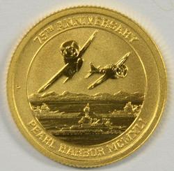 Pure .9999 2016 Australia $15 Gold. Pearl Harbor Anniv