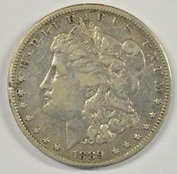 The Rare 1889-CC Morgan Silver Dollar. Sharp