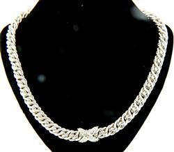 David Yurman Diamond X Necklace in Sterling