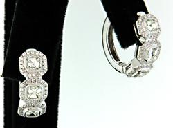 1.46 CTW VS Diamond Huggie Earrings