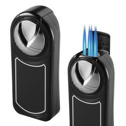 Visol Dobrev V 5 Torch Flame Black Matte Table Lighter