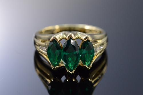 marquise imitation emerald ring usauctionbrokers
