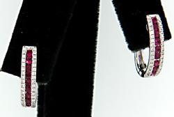 Charming Diamond & Ruby Earrings