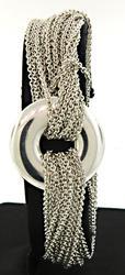 Tiffany & Co Multi Strand Toggle Bracelet in Sterling