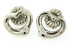 Tiffany & Co Open Heart Earrings in Sterling