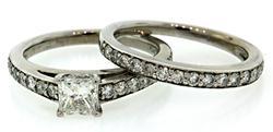 1.50 CTW Diamond Bridal Set in 18K