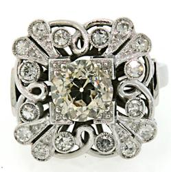 Incredible 1.69 CTW Diamond Ring in Vintage Setting