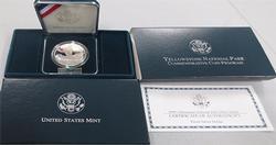 5 x 1999 Yellowstone Commem Silver Dollar Proofs in Box