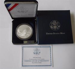 5 x 2008 Bald Eagle Proof Silver Commem $s