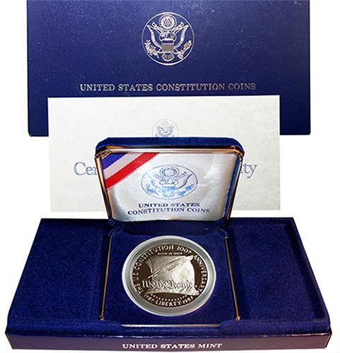15 x 1987-S Proof Constitution Commem Silver $'s In Box