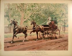 1892 Art Print, Vanderbilt Allen Tandem Shooting Cart
