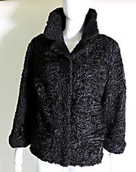 Persian Black Lamb Short Jacket