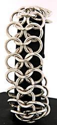 Multi Row Circle Link Bracelet in Sterling
