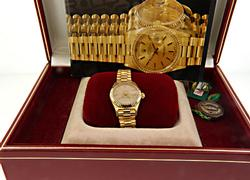 Rolex Ladies Tapestry President in 18K