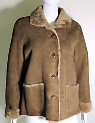 Mocha Suede Jacket with Faux Shearling