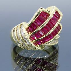 Diamond and Ruby .75CTW Cocktail Ring