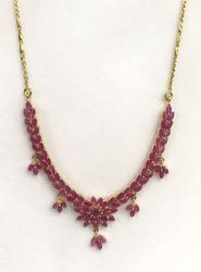 Beautiful 14kt Gold Ruby Necklace