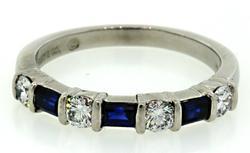 Tiffany & Co Diamond & Sapphire Band in Platinum
