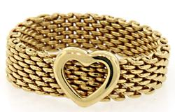 Tiffany & Co 18K Sommerset Ring with Heart Motif