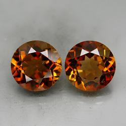 Ravishing 9.27ct 10mm pair of Imperial Topaz