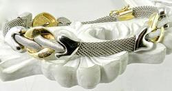 Exquisite Bi-Color Gold 14K Bracelet