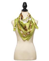 Fashionable 100% Silk Jacquard Print Scarf