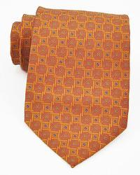 Orange & Brown 100% Silk Handmade Tie