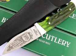 North America Hunting Club Drop Point Hunter GreenBone Knife