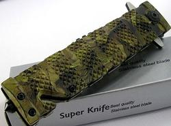 Bowie Sawback Style Rescue Flipper Assisted Opening Knife