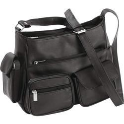 Brand New Leather Black Shoulder Strap Handbag
