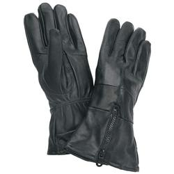 Mens Large Black Leather Pair of Gloves