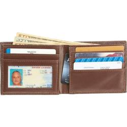 Embossed brown leather Gent's Wallet