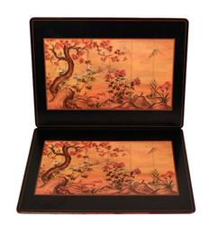 Two Vintage English Japanese Pimpernel Board Placemats