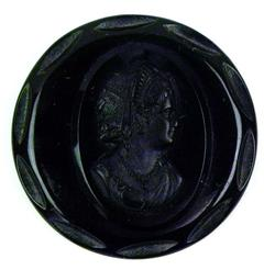 Antique Black Mourning Cameo Brooch