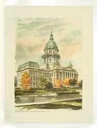 Limited Print, Terrific Watercolor Art, Building Scenary