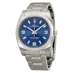 New in Box MidSize Rolex Oyster Perpetual 34 Blue Dial