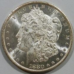 Exceptional BU 1880 O Proof-Like Morgan-Scarce Date!!