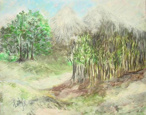Inspiring Scenary Original Painting Signed by the Artist