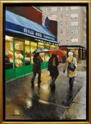 Rain in New York by Oscar Mersch