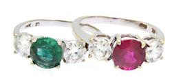Lot of Colorful CZ Rings