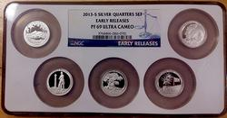 2013-S Silver Proof Quarter Set Early Release PF69 NGC
