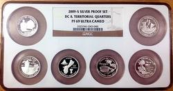 2009-S Silver Proof Quarter Set PF69 Ultra Cameo NGC