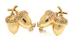 Acorn Clip On Earrings