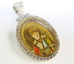 Very Charming Religious Gold Plated 925 Silver Pendant